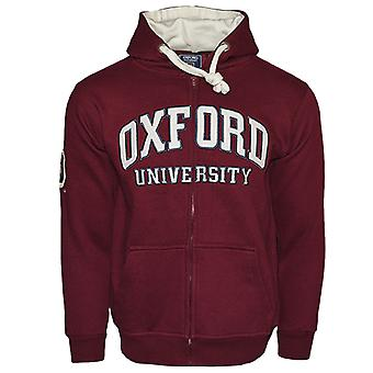 Ou129 licensed zipped unisex oxford university™ hooded sweatshirt maroon