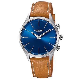 Kronaby S3124-1 Men's Sekel Smartwatch Blue Dial