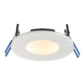 Saxby Lighting Orbitalpro Fire Rated Integrated LED Colour Changing Recessed Downlight Matt White IP65 71210