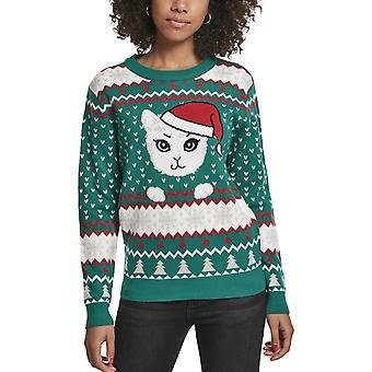 Urban Classics Ladies - Kitty Christmas Sweater grün
