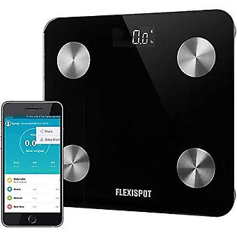 FlexiSpot Bluetooth Body Fat Scale Smart Wireless Łazienka Waga Waga Body Analyzer z BMI Kompatybilny ze smartfonem APP