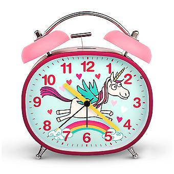 Tyrrell Katz Unicorn Design Children's Alarm Clock · Twin Bell · Silent Tick