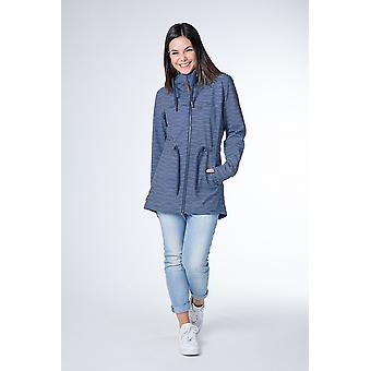 Alife and kickin Women's Softshell Jacket Charlotte D Coat Parka marine stripes Size XXL - XXXL