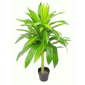 105cm Artificial Dracaena Tree with 2-Tone Realistic Leaves