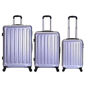 Slimbridge Lydd Set de 3 maletas duras, plata