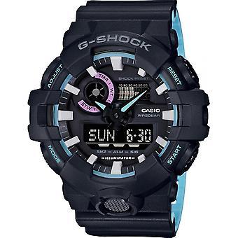 Casio Uhr G - Shock 90' Rave Farben GA-700PC-1AER - Armbanduhr Multifunktion R Sinus schwarz gemeinsame