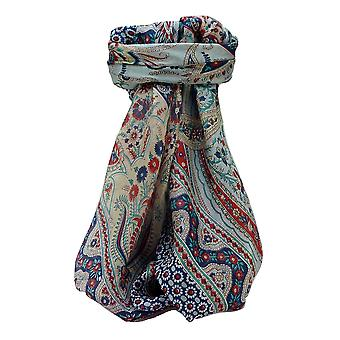 Mulberry Silk Traditional Square Scarf Kanikar Navy by Pashmina & Silk