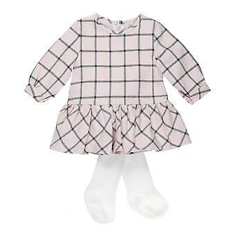Baby Sphere rose Checkered dress + pantyhose Rosa