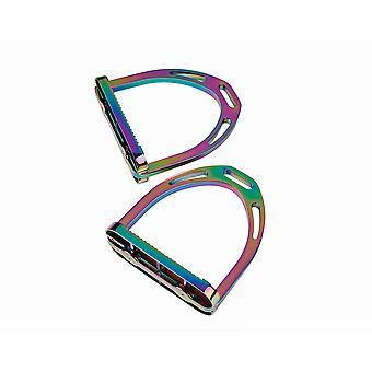 Korsteel Aluminium Stirrups 4.5in - Regenbogen