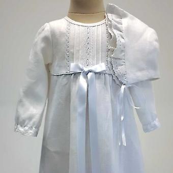 Jublende kjole nåde af Sverige, hvid bue og Dophätta tr. v. l