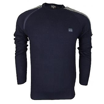 883 Police Dral Cotton Navy Knitwear Jumper