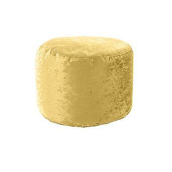 Gold Crushed Velvet Round Bean Bag Footstool Foot Rest Stool Pouffe Ottomaanse