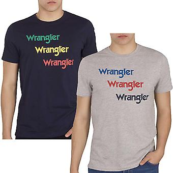 Wrangler Mens SS Repeat Casual Short Sleeve Crew Neck T-Shirt Top Tee