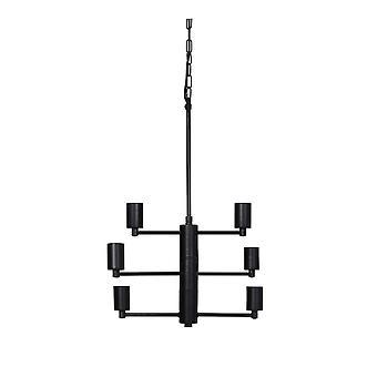Könnyű és élő függő lámpa 6L 51x38x60cm Susa matt fekete
