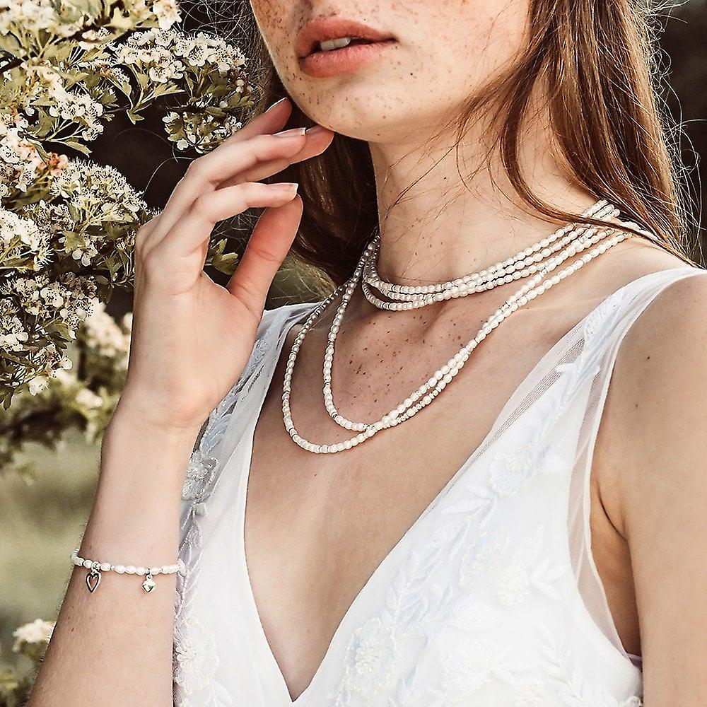 ChloBo Silver & Pearl Confetti Falls Necklace