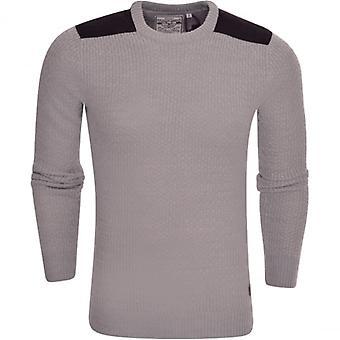 Dappere ziel Mens Brave ziel bemanning hals kabel gebreide mode Jumper trui Pullover Top