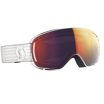 Scott LCG Compact White White Red Chrome Skimaske 2 Bildschirme