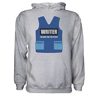 Moletom masculino capuz hoodie- escritor - I'm Here For The Story