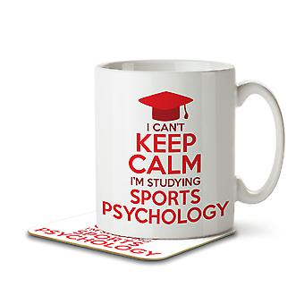 I Can't Keep Calm I'm Studying Sports Psychology - Mug and Coaster
