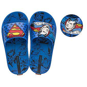 Ipanema Justice League Superman Kids 3D Slide / Sandals - Blue