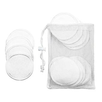 16x Herbruikbare Make-up Pads - Wit