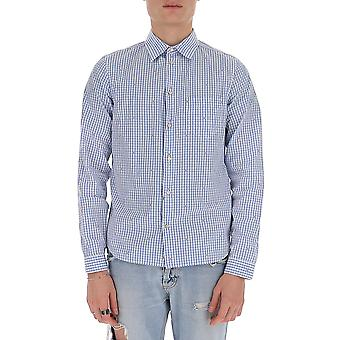 Gucci 596841zac209025 Men's Light Blue/white Cotton Shirt