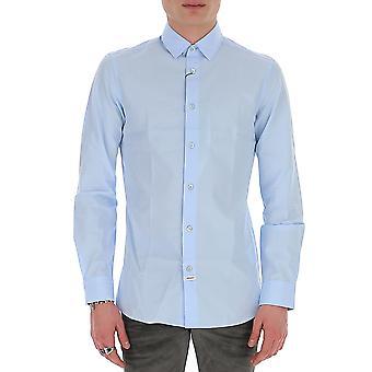 Kenzo Fa55ch2151fa63 Hombres's Camisa de algodón azul claro