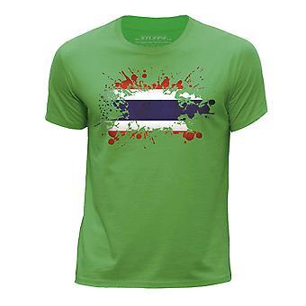 STUFF4 Chłopca wokół szyi T-shirty Shirt/Tajlandia/tajski flagi Splat zielony