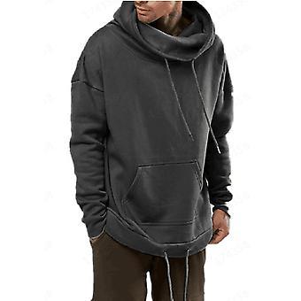 Allthemen Men's Solid Hooded Sweatshirt Pullover Long Sleeve Hoodies