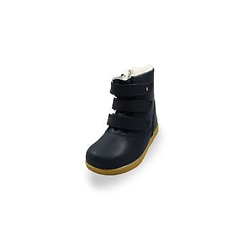 Bobux kid+ navy aspen waterproof fur-lined boots
