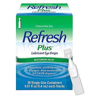 Refresh plus lubricant eye drops, moisturizing relief, single-use, 30 ea
