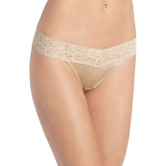 Maidenform Womens Dream Lace Thong Panty,Body, Body Beige, Size Small / Medium