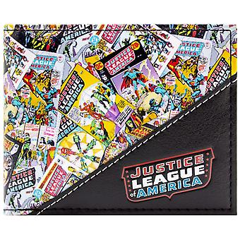 Justice League Comic Cover Collection ID & Card Bi-Fold Wallet