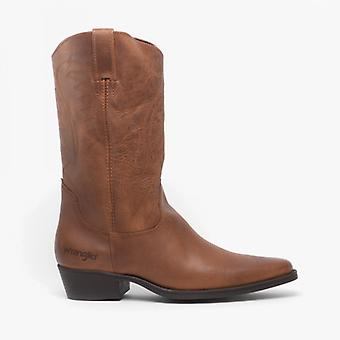 Wrangler Texas Ii Hi Mens Leather Calf Length Cowboy Boots Tan