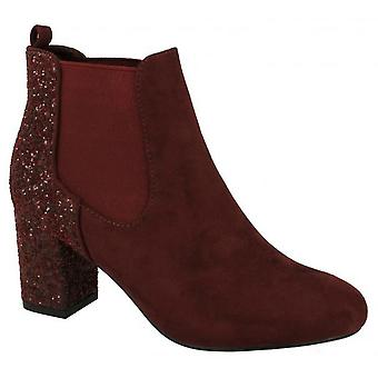 Anne Michelle Womens/Ladies Glitter Effect Ankle Boots