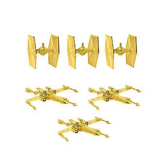Officielle Star Wars juletræspynt / ornamenter (guld)