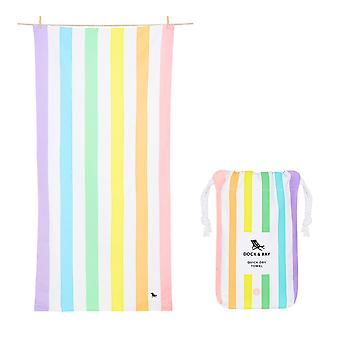 Dock & bay quick dry beach towel - summer - unicorn waves