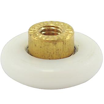 25mm Shower Door Roller - 5mm internal bolt thread