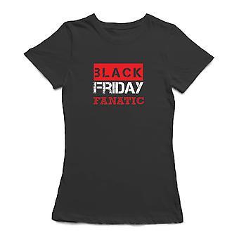 Black Friday Fanatic Women's Charcoal T-shirt