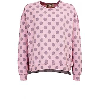 A Postcard from Brighton Pink Spot Print Sweatshirt