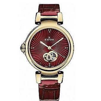 Edox kellot LaPassion Open Heart Naisten Watch Automaattinen 85025 37RC ROUIR