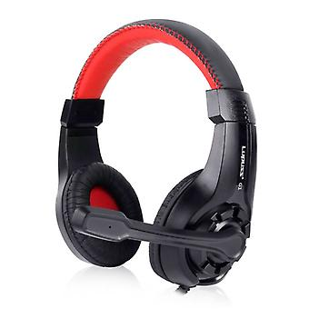 Lupuss G1 Headphones with Microphone Headphones Stereo Gaming for PlayStation 4 Red