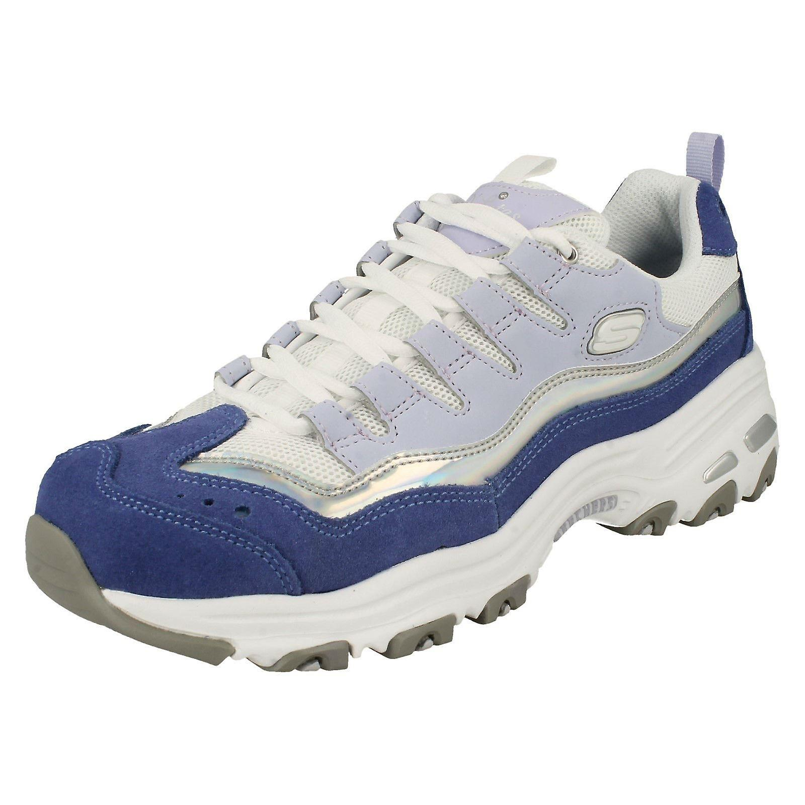 Ladies D'Lites By Skeches Air-Cooled Memory Foam Trainers Grand View zVCmB