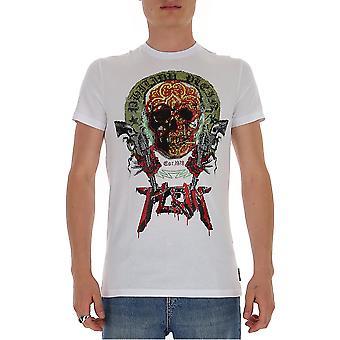 Philipp Plein P20cmtk4467pjo002n01 Miesten valkoinen puuvilla t-paita