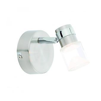 Lumière de mur de Saturne, chrome et acrylique, 1 ampoule
