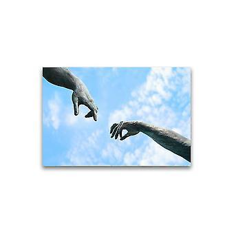 To hender gamle statue del plakat -bilde av Shutterstock