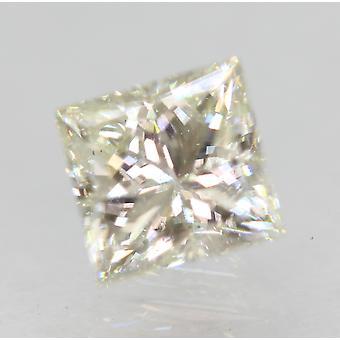 Certified 0.90 Carat I Color VVS2 Princess Enhanced Natural Diamond 5.38x5.16mm