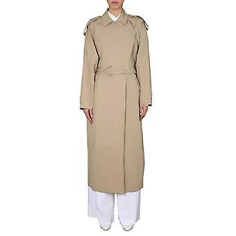 Bottega Veneta 609117vkon09733 Women's Beige Cotton Trench Coat