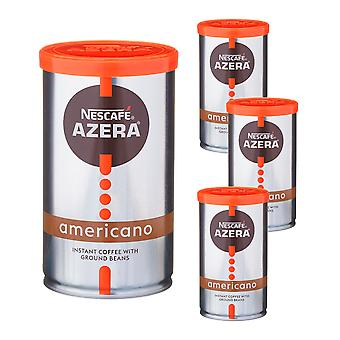 4 x 100g lata Nescafe Azera Instant Ground Beans Americano Coffee Hot Drink