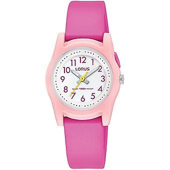 Lorus R2389MX-9 Child's Pink Case And Strap Wristwatch